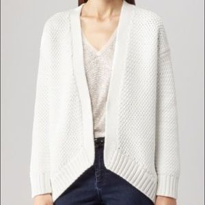 REISS Ellis Thick Knit White Cardigan Sweater